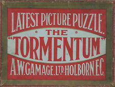 VINTAGE C1910 WOODEN JIGSAW PUZZLE X 2. GAMAGE'S TORMENTUM BRAND