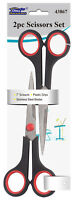 Kitchen Household Scissors Office Stainless Steel Scissors Soft Grip 2 PC SET