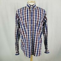 Paul & Shark Yachting XL Multi Color Plaid Shirt 100% Cotton Made in Italy