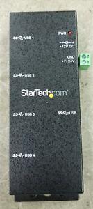 StarTech Rugged 4 Port Industrial USB 3.0 Hub Rack Mountable ST4300USBM