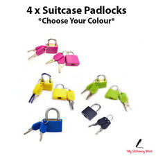 4 X 20mm Mini Small Padlock Home Door Travel Suitcase Luggage Bag Lock Padlocks