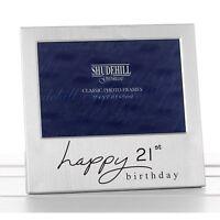 Happy 21st Birthday Satin silver photo frame-shudehill