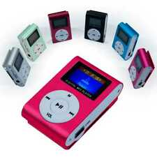 Mini MP3 Player Clip Reproductor LCD Metalico hasta 32Gb Micro SD Radio FM Rosa