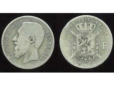 BELGIQUE 2 francs 1866 ( des belges )  argent   ( 3 )