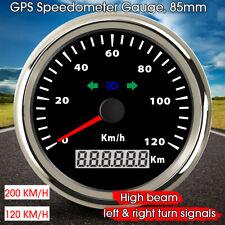 200 KM/H GPS Speedometer Gauge Beam Cornering Lamp Direction 85MM Waterproof