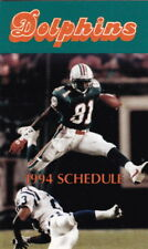 1994 Miami Dolphins Football Pocket Schedule
