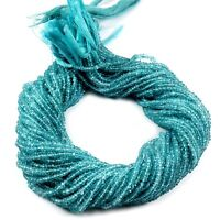 Natural Apatite Gemstone Rondelle Micro Facet Beads Full Strand 13 inch 3-3.5mm