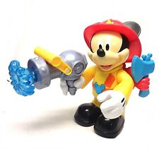 """DISNEY Fisher-Price Mickey Mouse Fire Fighter Mickey 10"""" Chunky figure w/sound"""