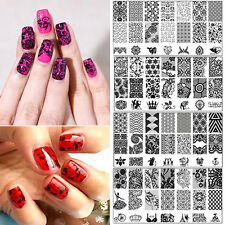 DIY Nail Art Image Stamp Stamping Plates Manicure Template Transfer Tool