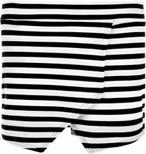 Polyester Mini Striped Regular Size Skirts for Women