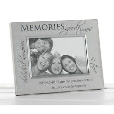 Memories Sentiments Brushed Silver Special Occasion family Photo Frame