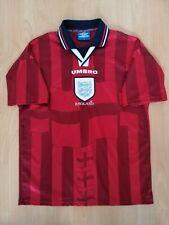 England Nationalmannschaft Away Vintage Fußball Trikot M 1997 1998 1999 alt selt...
