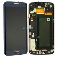 Pantalla LCD Táctil Digitalizador+Marco Para Samsung Galaxy S6 Edge G925F Azul