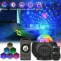 LED Bluetooth USB Galaxy Projector Starry Night Lamp Star Projection Night Light