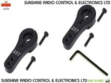 RC 1/10 1/8 25T Steering Throttle Servo Horn KIT 25 Teeth Tooth Servo Arms BLK