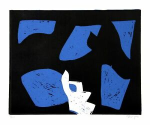 Charlie Hewitt, Untitled - N, Woodblock, Signed and Numbered in Pencil