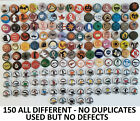 150 Beer Bottle Caps <<<ALL DIFFERENT NO DUPLICATES USED BUT NO DEFECTS>>>