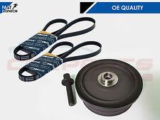 Para BMW E46 320d Eje De Manivela Polea Amortiguador de vibraciones TVD Alternador AC Cinturón Perno