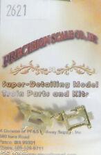 Precision Scale HO #2621 Air Pump Hinged Bracket R&L (Brass Castings)