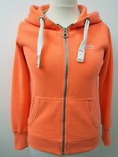 Womens Gorgeous Orange Hooded Zip Front Jacket by Superdry. Size L. UK 12