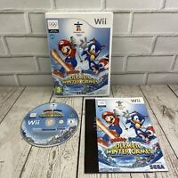 Mario & Sonic At The Winter Olympic Games (PAL) Nintendo Wii Complete Manual