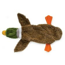 Ancol Floppet Duck Dog Toy Comforter Unstuffed Plush Flat Friend