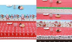 Disposable Christmas Tablecloth Wipe Clean Table Cloths Cover