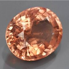 Certified 43.62ct Oval Natural Unheated Peach Pink Morganite