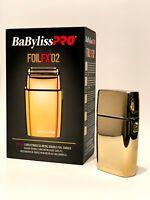 BaByliss PRO® FOILFX02™ Cordless Metal GOLD Double Foil Shaver FXFS2G