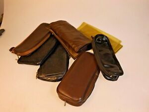 Group Lot: 7 Pipe Tobacco Pouches all Used all Working Condition: Dunhill Parker