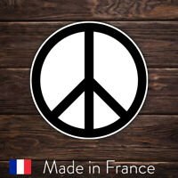 Autocollant Sticker Symbole Paix Peace and Love Laptop Mur Smartphone 9cm LSP002