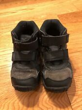 Stride Rite Black SNEAKERS BOOTS sz 12.5 Wide Toddler Boys Leather Shoes