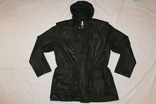 BARBOUR VINTAGE A5 LINED DURHAM WAXED JACKET COAT C36 / 91CM (SMALL) OLIVE GREEN