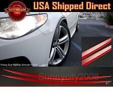 2 Pieces Flexible Slim Fender Flare Lip Extension Red Trim For  VW Porsche