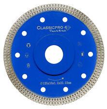 Tile Saw Turbo Thin Diamond Dry Cutting blade/Disc Grinder wheel 125mm UK
