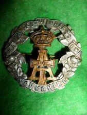 The P.O.W. Yorkshire Regiment Victorian Cap Badge KK 615