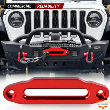 10 Hawse Fairlead Cnc Billet Aluminum Red For Synthetic Winch Rope 15000 Lbs
