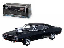"DOM'S 1970 DODGE CHARGER BLACK  ""FAST & FURIOUS"" MOVIE 1/43 GREENLIGHT 86201"
