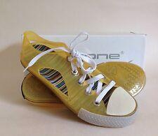 Cyclone Women's Rockabilly Yellow Transparent Jelly Baseball Shoes  UK 3 EU 36