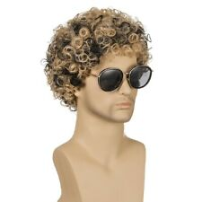 Fashion Men High Temperature Fiber Short Toupee Messy Curly Cosplay Party Wigs