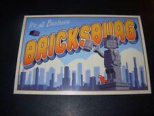 LEGO BRICKSBURG Art 4X6 Postcard like poster print Steve Thomas