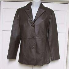 Clio Black Leather Short Jacket Size 8