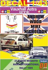 DECAL 1/43 VAUXHALL ASTRA GTE  A.WOOD MANX INTERNATIONAL R. 1985 9th (01)
