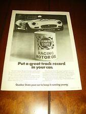 1976 JAGUAR - QUAKER STATE OIL   ***ORIGINAL AD***