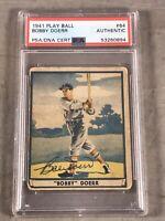 1941 PLAYBALL #64 BOBBY DOERR AUTOGRAPHED PSA/DNA CERT AUTHENTIC HOF
