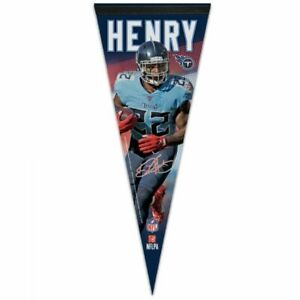 """DERRICK HENRY TENNESSEE TITANS PREMIUM QUALITY PENNANT 12""""X30"""" BANNER NFL"""