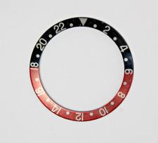 Genuine Rolex GMT Bezel Insert.  Red.  Black.  Coke.  16710.