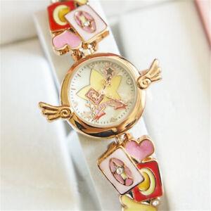 Cardcaptor Sakura Women Watch Cerberus Star Wing Rose Gold Waterproof Wristwatch