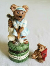 BOYDS BEARS Golf Bear Treasure Box Excellent Condition