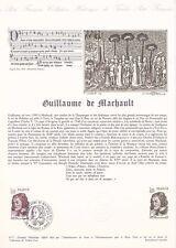 Document philatélique 43-77 1er jour 1977 Guillaume de Machault Littéraire